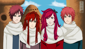 Suna's redheads by lhamarela