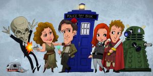 Doctor Who and gang by pungang