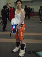 Chell Cosplayer by stormx6