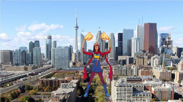 Attack of the 50ft Ms Marvel 4 by demonmanofdarkness