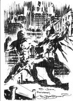 Batman vs DD commission piece by JJDZIALOWSKI