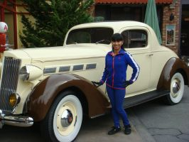 I'm standing by Disneyland's antique car by Magic-Kristina-KW