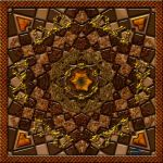 20121111-Wood-and-Gold-Grille-Mandala-v13 by quasihedron