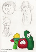 A tomato, a cuke, and a tree by KicsterAsh