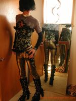 Bronze-jeaned boy - with corset by dude-girl
