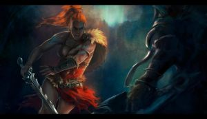 Diablo III - Barbarian fan art by YukiharaShira