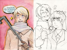 Kami-con Watercolors - Hetalia by AzureKitsune308