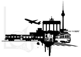 Berlin Drawing T-Shirt by bezzo