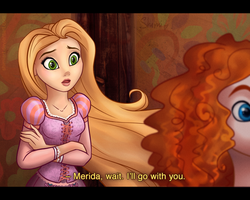 I'll Go With You - Merida and Rapunzel by ShimiArt