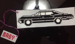 SPN Impala Xstitch Car Mirror Dangler by RanebowStitches