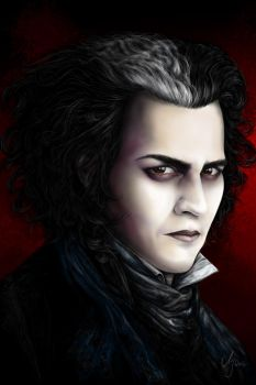 Sweeney Todd - Johnny Depp by SarembaArt
