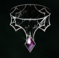 Night web choker by Darla-Illara