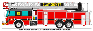 Clay County Fire Dept. Ladder 23 by MisterPSYCHOPATH3001