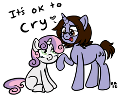 It's ok to cry, Sweetie Belle by serenamidori