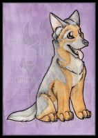 Chibi Watercolors: German Shepherd 2015 by AirRaiser