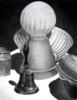 Charcoal Still life by phiro3
