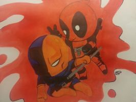 deadpool and deathstroke by Sew-What