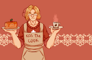 Hetalia: Canada | Kiss the cook by Lazorite