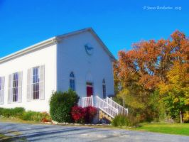 Country Church In The Fall by jim88bro