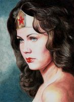Lynda Carter Wonder Woman by Pevansy