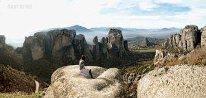 Panoramic Meteora by Piddling