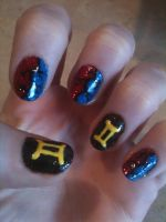 Sollux Captor nails by Shidobukatsu