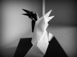Origami - Two Crows by Flutingspirit
