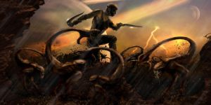 Riddick Ready For Action by lifeformgraphics