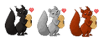 Squirrel avatars by HidesBehindThings