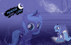 FiM: Princess Luna Wallpaper by M24Designs