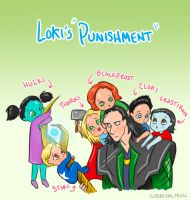 Loki's Punishment by superficialskull