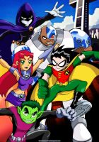 Teen Titans Poster by bbmbbf