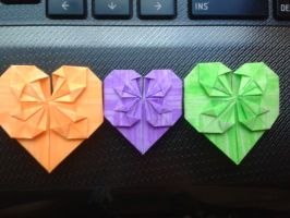 Mini Origami Blossom Heart Colour Collection by snoopysoap