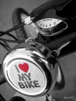 i love my bike by allew