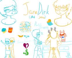 Dirk and Jane by Jerena