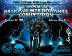 MTB Downhill Competition Poster by slandin