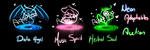Neon Mysterious Adoptables CLOSED by Milly-adoptables