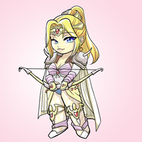 FF4 Rosa Chibi by glance-reviver