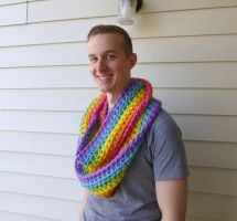Syppah's Cute Creations Rainbow Infinity Scarf by syppahscutecreations