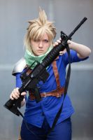 Cloud Cosplay - Defending by Maryru