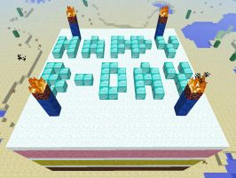 Minecraft Birthday Cake by Greenwood-Wolf