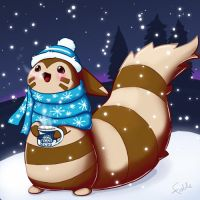Furret In The Snow by fablefire