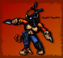 Shadow Monkey by cflare
