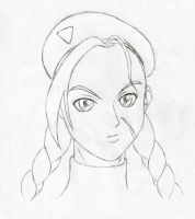 Cammy Face Design Sketch - 1 by HPL-The-Outsider