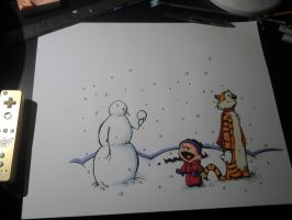 Calvin and Hobbes by Pinkshisno