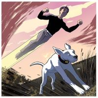 Superboy and Krypto by Cabbral