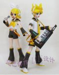 papercraft len y rin kagamine by vanessa221292