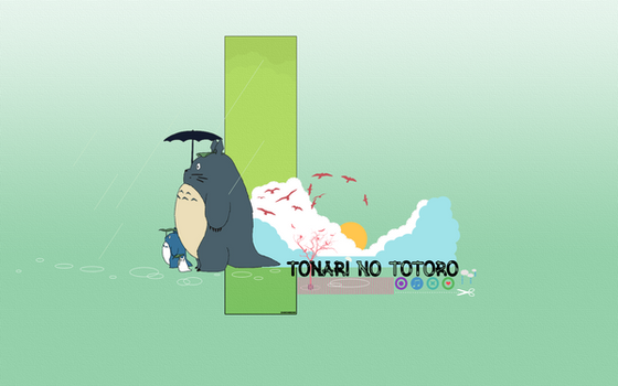 Tonari no Totoro by shainabear