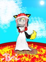 Flame the wolf, wedding contest by BriannaTheWolf599