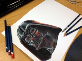 Darth Vader in progress by AtomiccircuS